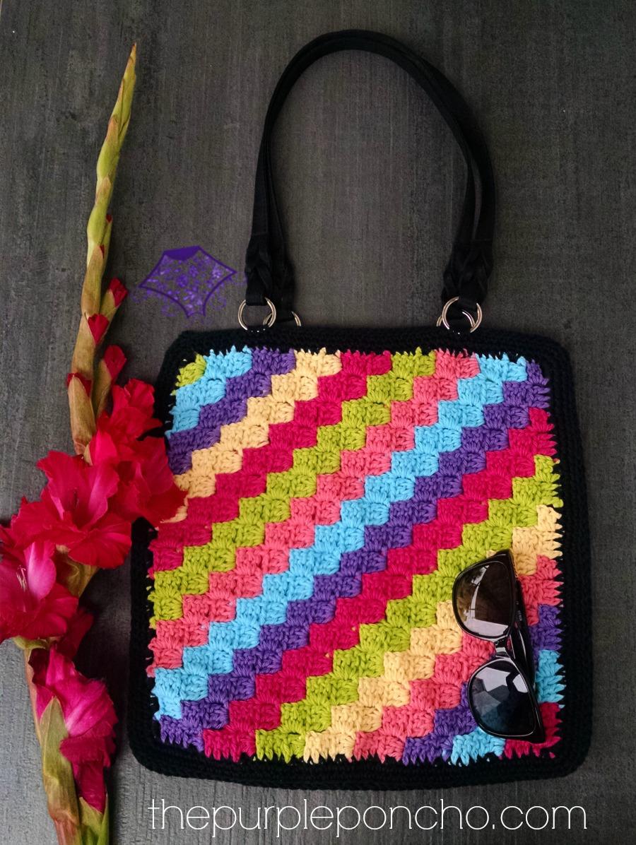 C2C Crochet Tote Bag Pattern by Carolyn Calderon