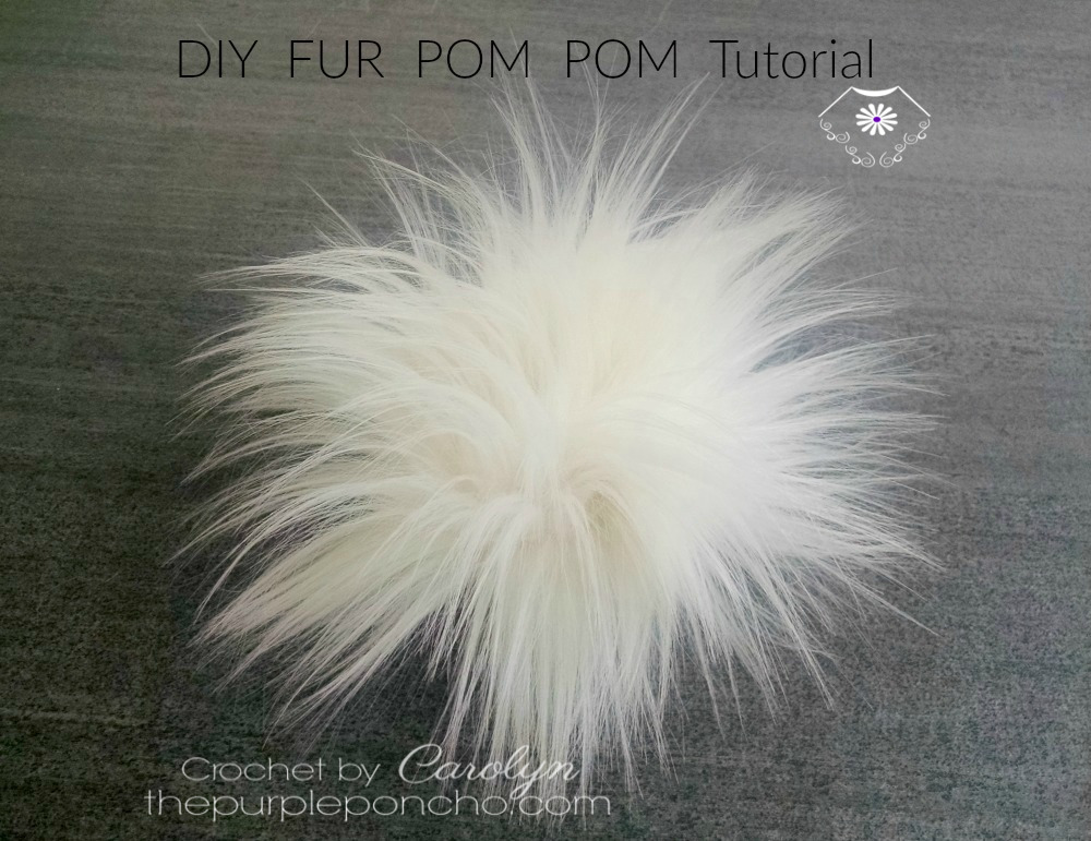 DIY Fur Pom Pom - Tutorial!