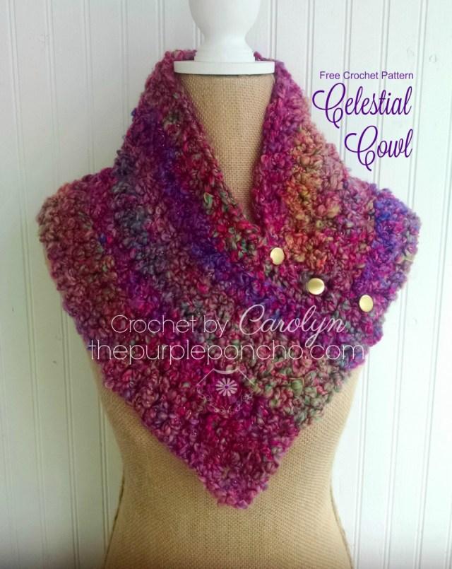 Celestial Cowl Free Crochet Pattern The Purple Poncho