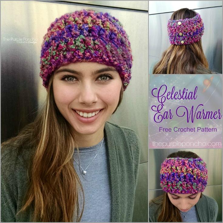 Celestial Ear Warmer Free Crochet Pattern The Purple Poncho