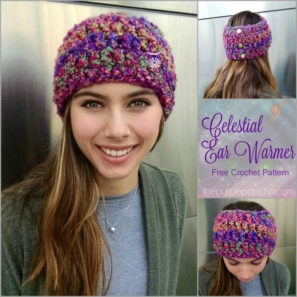 Celestial Ear Warmer – Free Crochet Pattern – The Purple Poncho