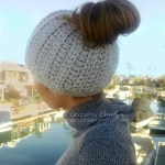 Messy Bun Hat – Free Crochet Pattern