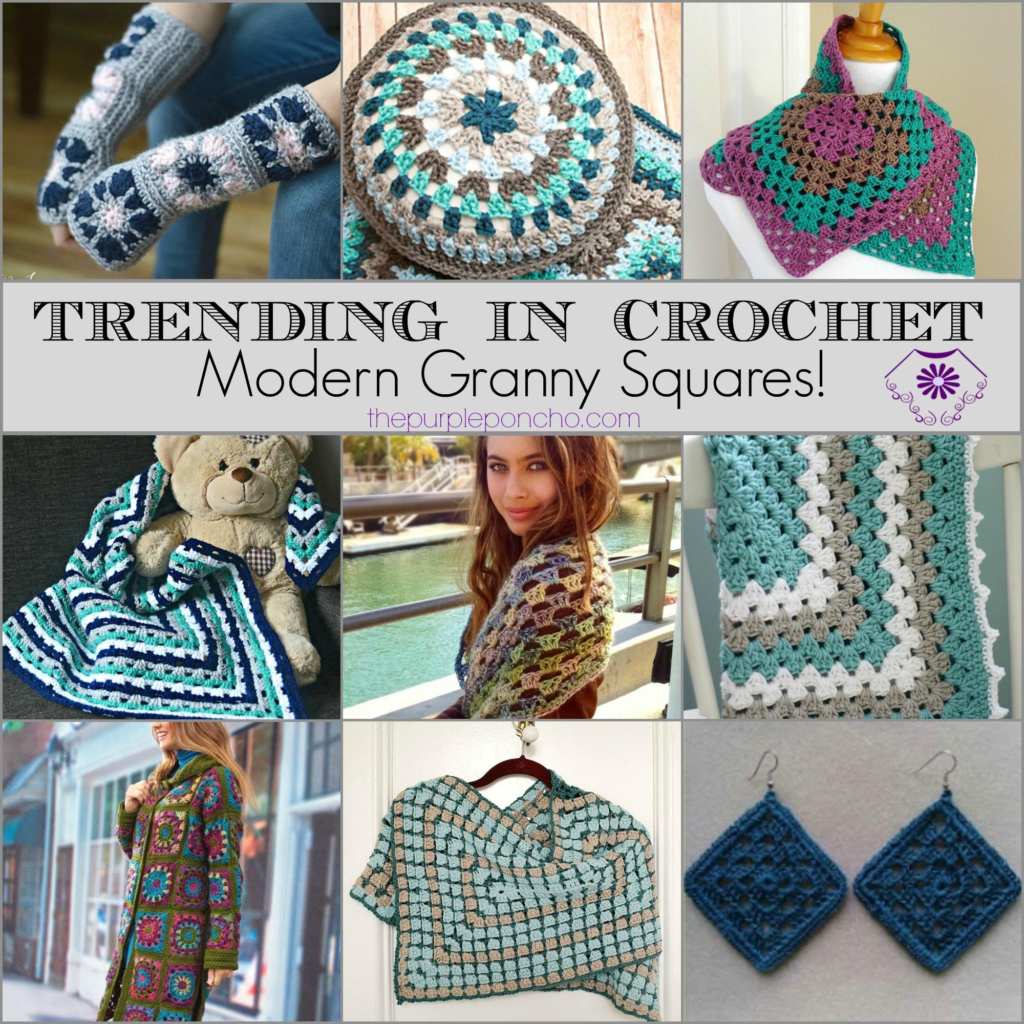 Trending In Crochet Modern Granny Squares The Purple Poncho