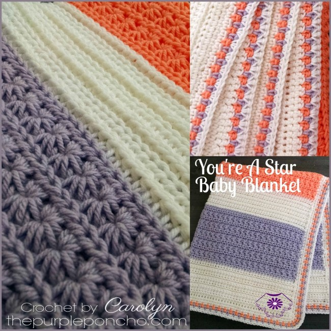 Youre a star baby blanket free crochet pattern the purple poncho youre a star baby blanket is the first in my collection of star stitches i fell in love with this stitch and couldnt stop making them dt1010fo