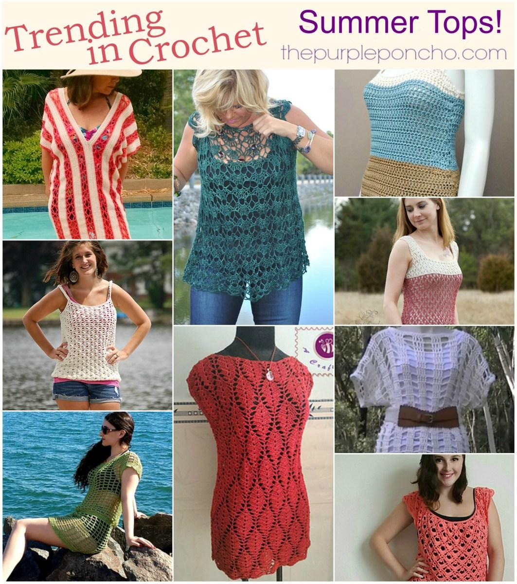 Trending In Crochet – Summer Tops! – The Purple Poncho