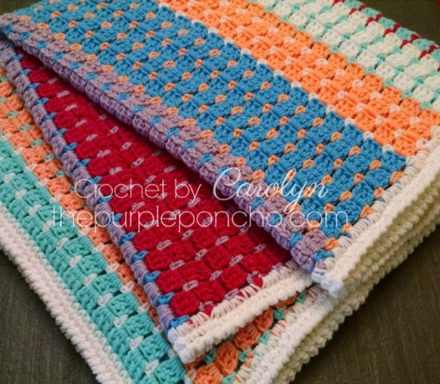 Chasing Colors Blanket Free Crochet Pattern The Purple Poncho