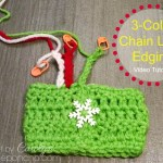 Video Tutorial – How To Make A 3-Color Chain Loop Edging!