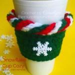 Snowflake Cup Cozy – Free Crochet Pattern