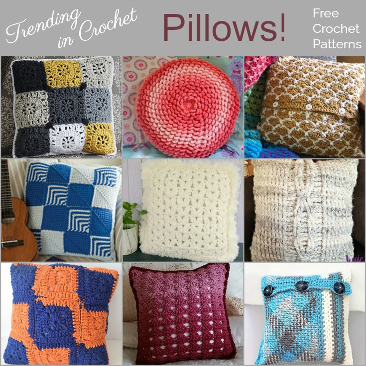 Trending In Crochet Pillows Free Crochet Patterns The Purple Poncho