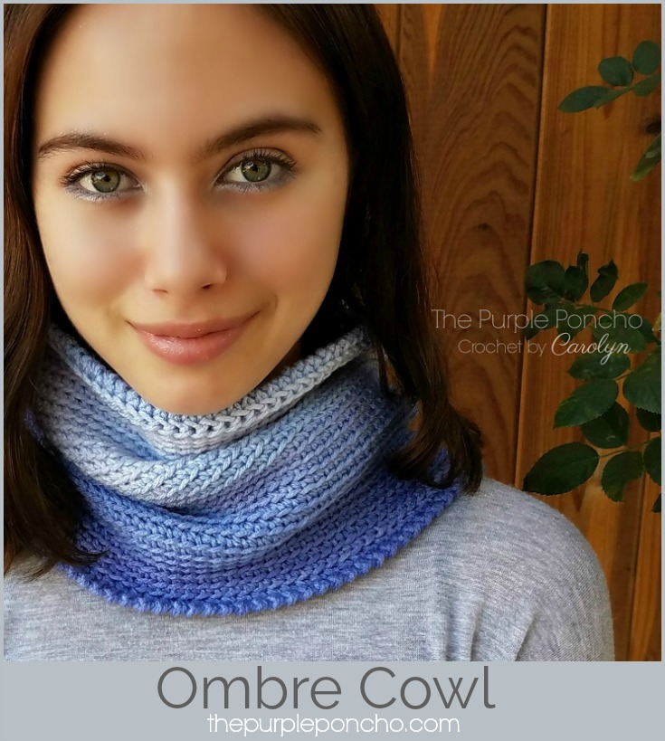 Free Crochet Pattern Ombre Cowl The Purple Poncho