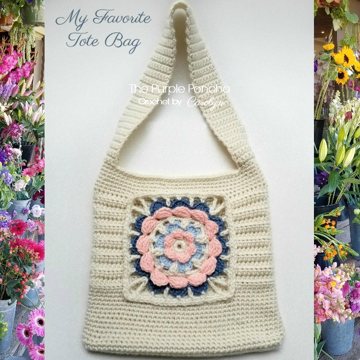 Free Crochet Pattern: My Favorite Tote Bag – The Purple Poncho