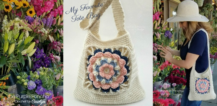 Free Crochet Pattern My Favorite Tote Bag The Purple Poncho