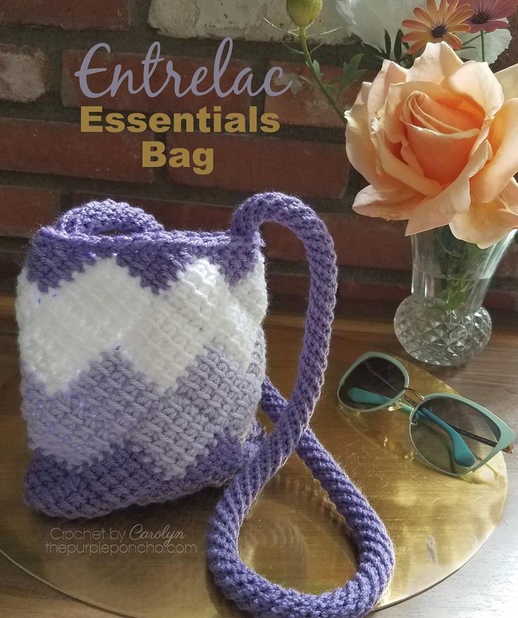 Entrelac Essentials Bag by The Purple Poncho