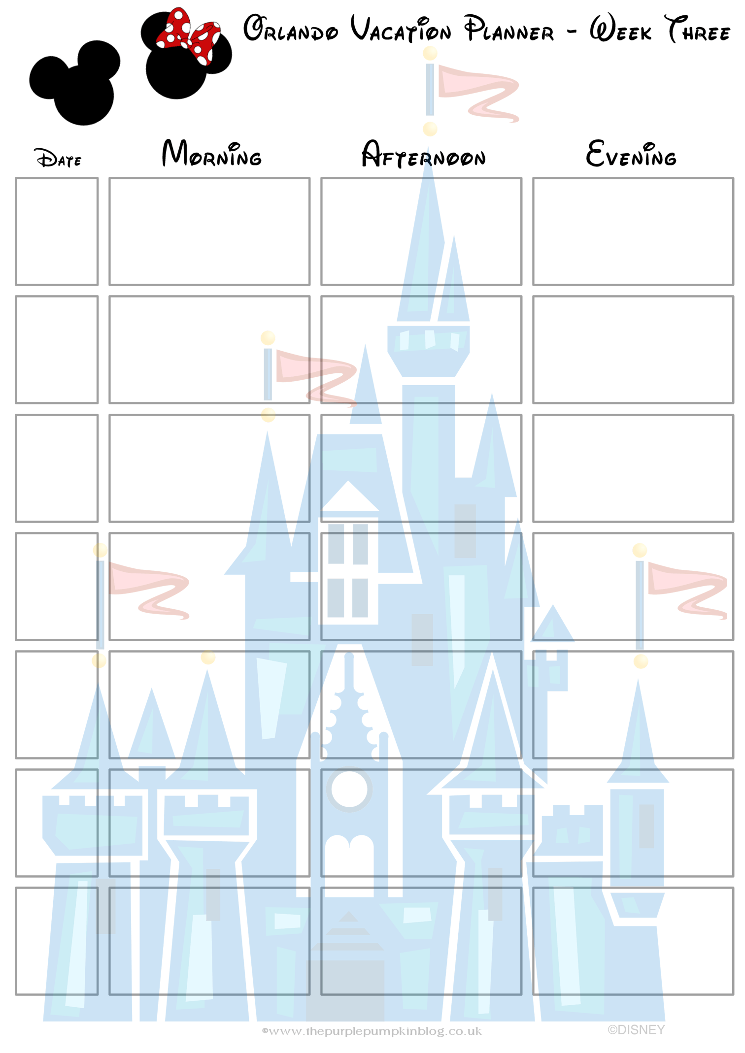 Orlando Walt Disney World Vacation Planner