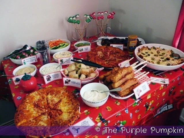 food for a nintendo themed birthday party