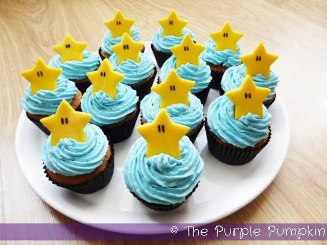 Super Mario Starman Nintendo Cupcakes