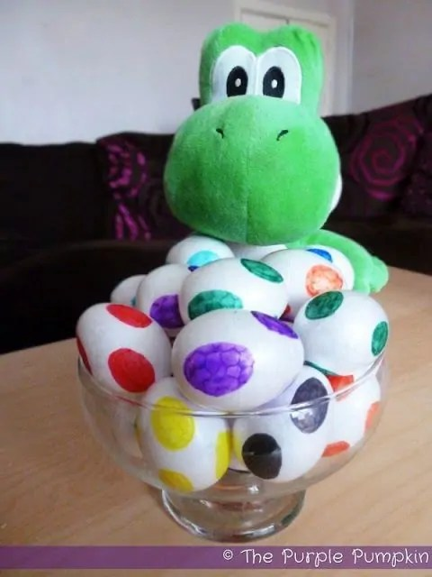 How to make Yoshi Eggs for a Nintendo Party