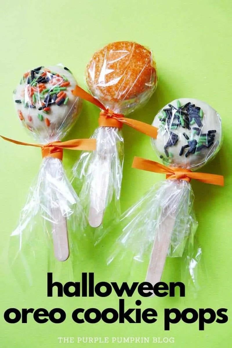 Halloween Oreo Cookie Pops