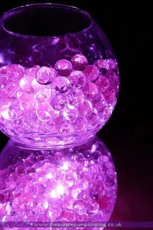 Bowls Of Light Aqua Bead Led Light Display