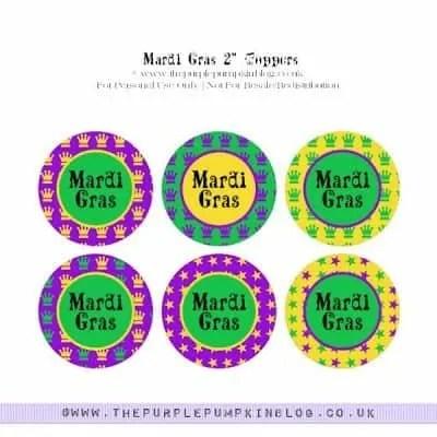 Mardi Gras Cupcake Toppers