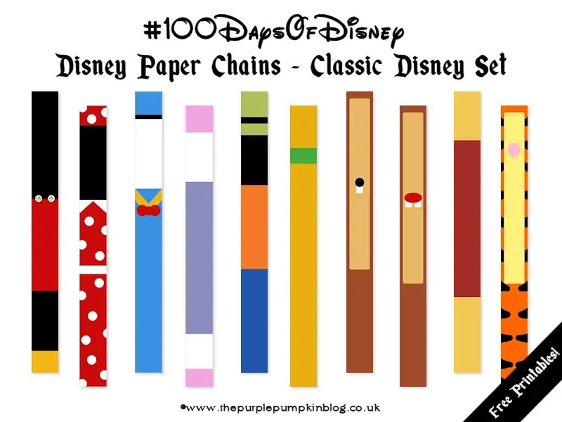 Disney Paper Chains - Classic Disney Set