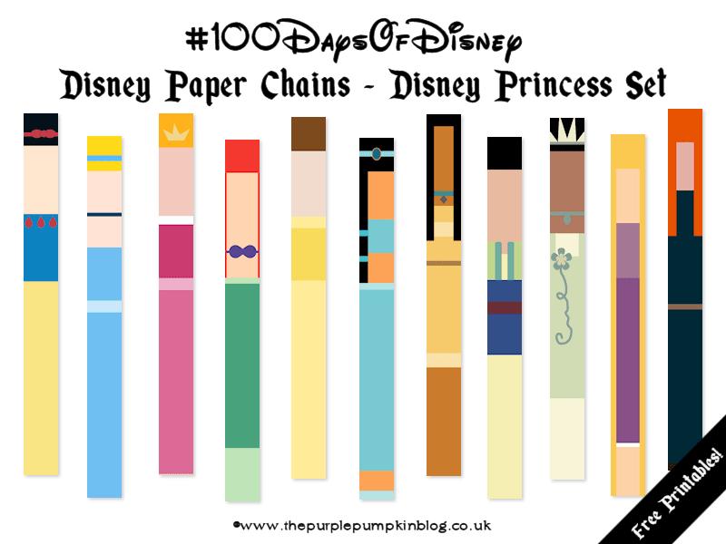 Disney Paper Chains - Disney Princess Set