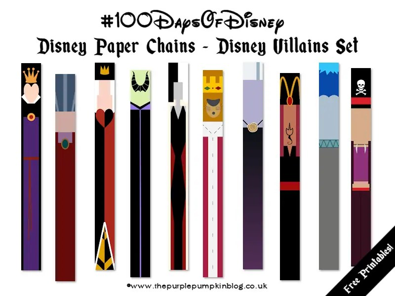 Disney Paper Chains - Disney Villains Set