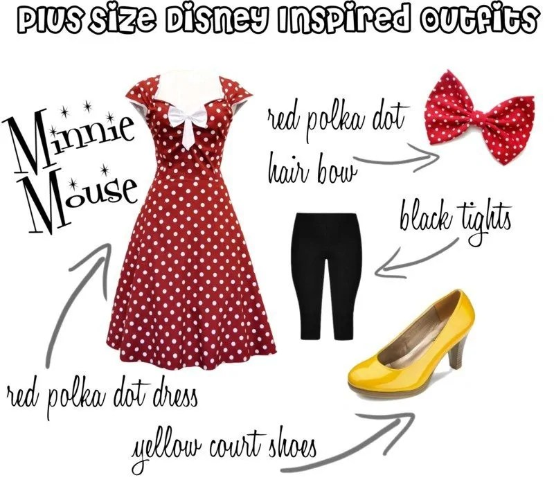 Plus Size Disney Bounding - Minnie Mouse #100DaysOfDisney