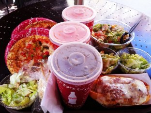 Pizza & Salad at Pizza Planet