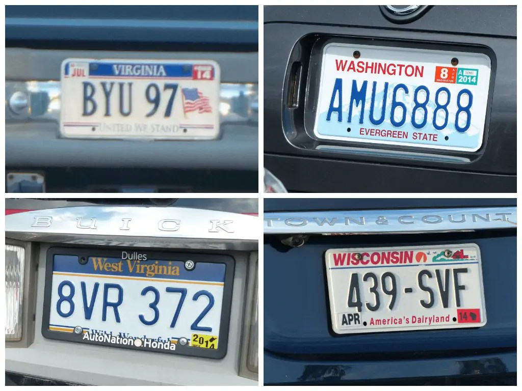 US License Plate Bingo - Car Travel Games
