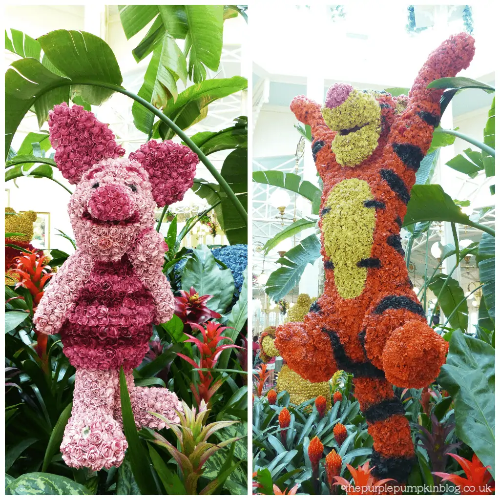 Piglet Tigger Flower Topiaries