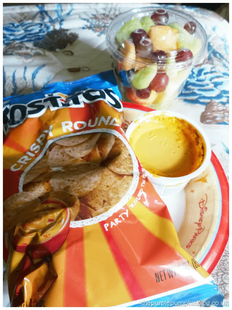 Nachos & Cheese Dip and Fruit Cup