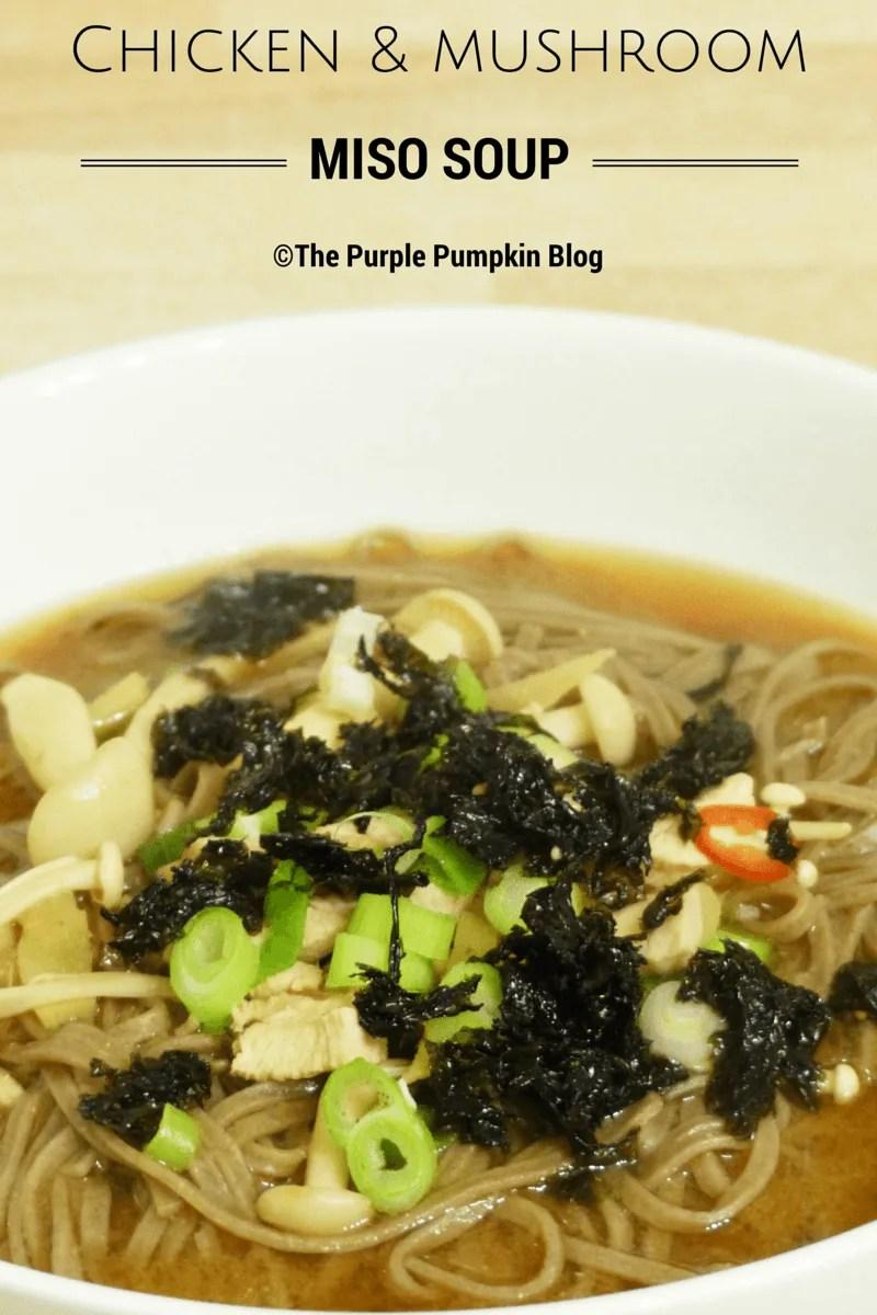 Chicken and Mushroom Miso Soup