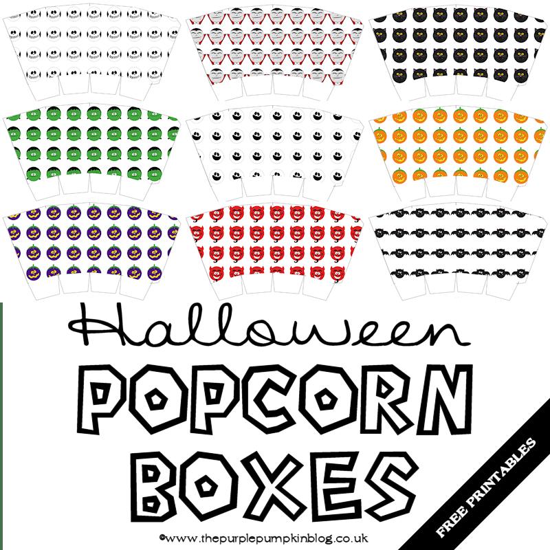Halloween Popcorn Boxes Free Printable