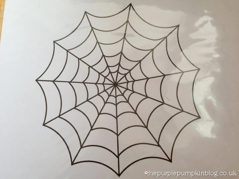 how to make glitter glue spider web halloween decorations craftyoctober the purple pumpkin blog. Black Bedroom Furniture Sets. Home Design Ideas