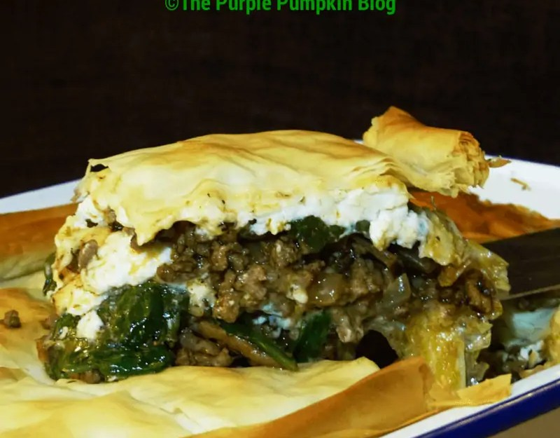 Lamb, Spinach and Feta Filo Pie