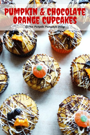 Pumpkin and Chocolate Orange Cupcakes