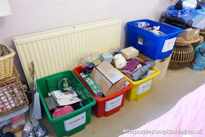 Declutter with the Four Box Method