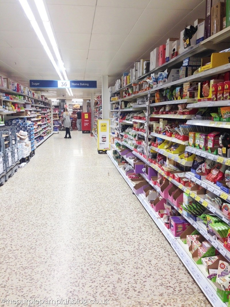Home Baking Aisle at Tesco