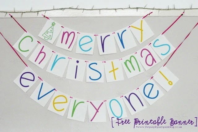 Merry Christmas Everyone Banner Free Printable