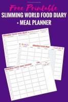 Slimming World Food Diary Printable + bonus Meal Planner!