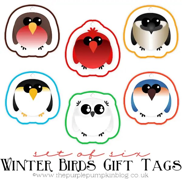 Winter Birds Gift Tags
