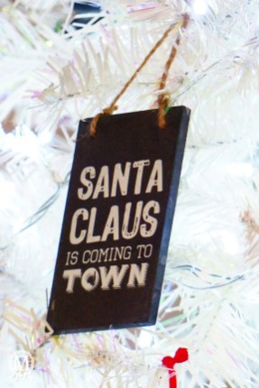 Santa Claus is Coming to Town Christmas Ornament