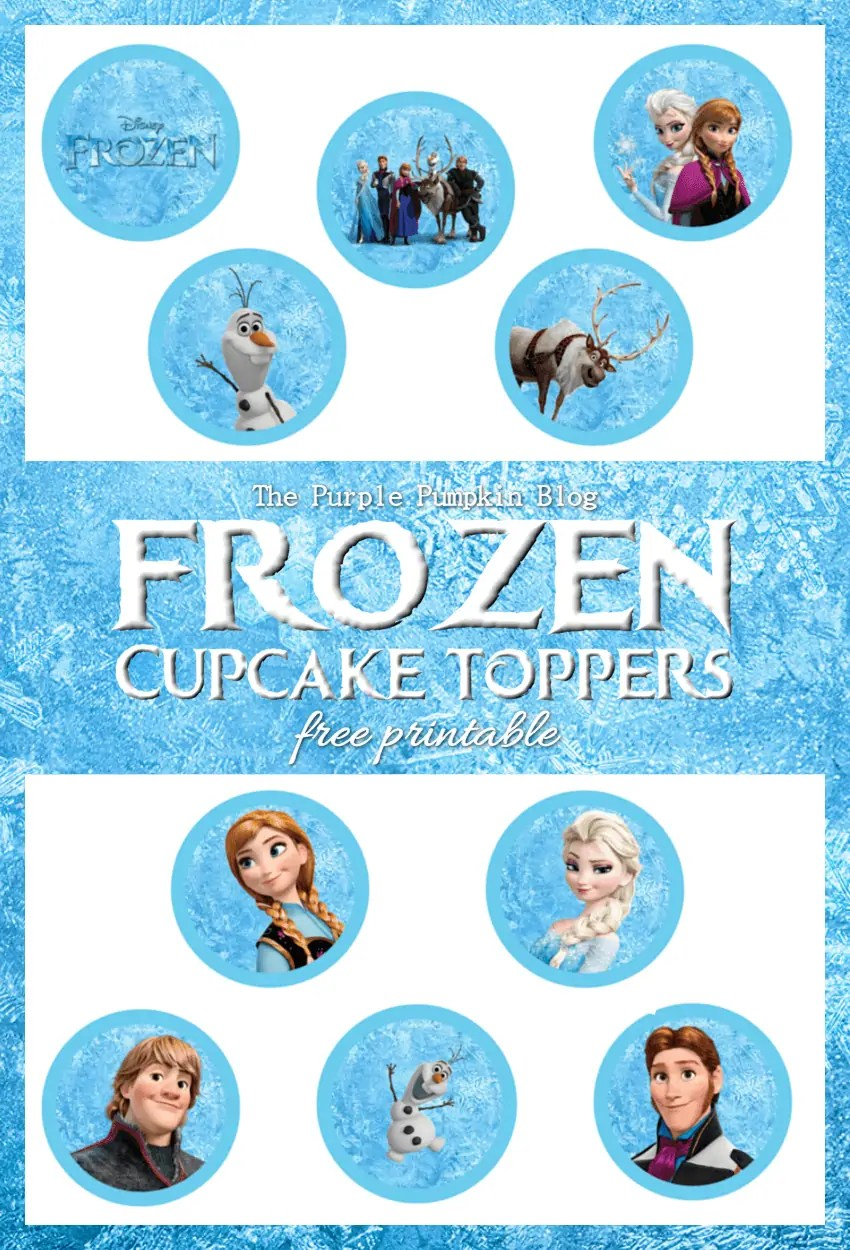 photograph about Frozen Printable called Frozen Cupcake Toppers - No cost Printable!
