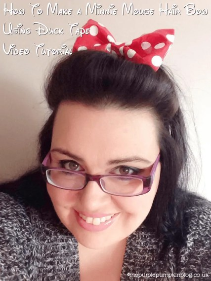 Minnie Mouse Duck Tape Hair Bow Tutorial