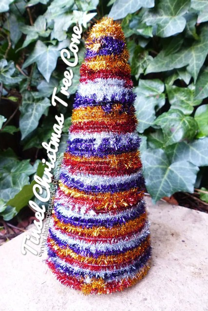 Tinsel Christmas Tree Cone