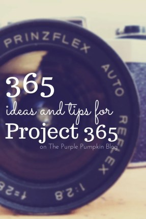 365 Ideas and Tips for Project 365 on The Purple Pumpkin Blog