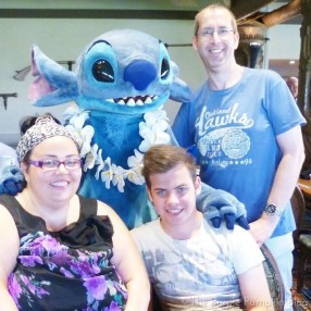 Stitch at 'Ohana Character Breakfast