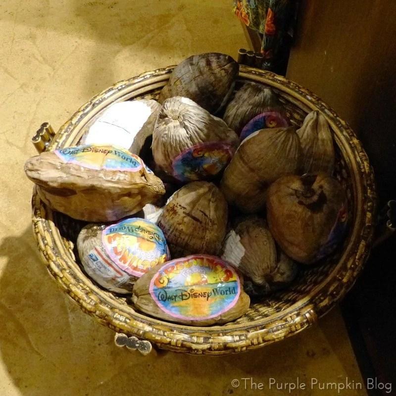 Disney Polynesian Resort - Postcard Coconuts