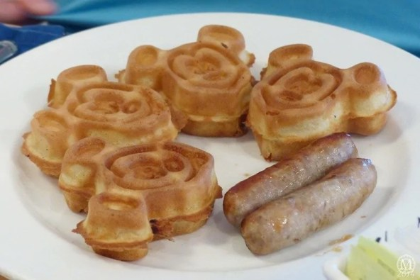 Mickey Waffles at Olivia's Cafe Breakfast at Old Key West